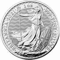Großbritannien : 2 Pfund Britannia  1 oz  2021 Stgl.