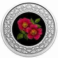 Kanada : 3 Dollar Wildrose/Alberta - Florale Wahrzeichen #7  2021 PP