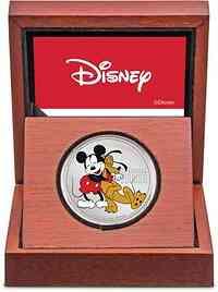 Niue : 2 Dollar Disney - Mickey Mouse/90 Jahre Pluto  2020 PP