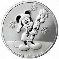 Niue : 2 Dollar Disney Mickey Mouse Weihnacht  1 oz Bullion  2020 Stgl.