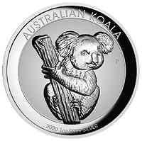 Australien : 1 Dollar Koala Hohes Relief 1Oz   2020 bfr