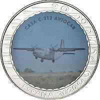 Spanien : 1,5 Euro Casa C-212 Aviocar  2020 bfr