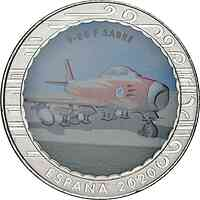 Spanien : 1,5 Euro F-86 F Sabre  2020 bfr