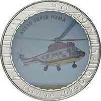 Spanien : 1,5 Euro AS332 Super Puma  2020 bfr