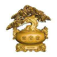 Tschad : 10000 Franc Chinesischer Geldbaum - Antik Finish 2021 Stgl.