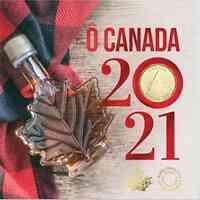 Kanada : 3,40 Dollar O Canada Kurssatz  2021 Stgl.