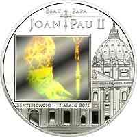 Andorra : 5 Din Seligsprechung Papst Paul II. - Hologramm 2011 PP