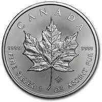 Kanada : 5 Dollar Maple Leaf  2021 Stgl.