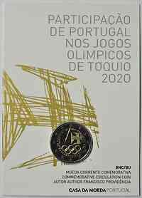 Portugal : 2 Euro Teilnahme an den Olympischen Spielen in Tokio  2021 Stgl.