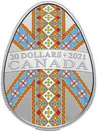 Kanada : 20 Dollar Pysanka - in Eiform  2021 PP