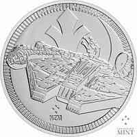 Niue : 2 Dollar Star Wars - Millennium Falke Bullion  2021 Stgl.