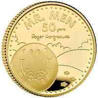 Großbritannien : 25 Pfund 50 Jahr Mr. Men Little Miss-Mr Happy ¼ Oz   2021 PP