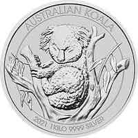 Australien : 30 Dollar Koala 1 kg  2021 Stgl.