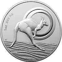 Australien : 1 Dollar Känguruh - Outback Majesty - in Kapsel  2021 Stgl.