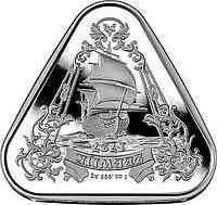 Australien : 1 Dollar Segelschiff Zeewijk - Dreiecksmünze 1 oz  2021 Stgl.