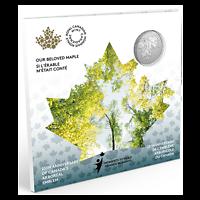 Kanada : 5 Dollar 25. Jahrestag von Kanadas Ahorne Wappen  2021 Stgl.