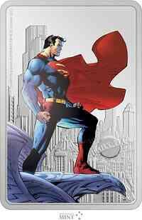 Niue : 2 Dollar Superman - Man of Steel/Metropolis 2021 PP