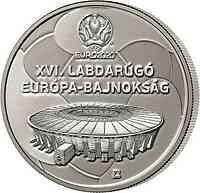 Ungarn : 2000 Forint Fußball EM  2021 Stgl.