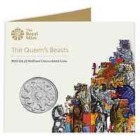 """Großbritannien : 5 Pfund """"Queens Beast Collection - Completer Coin"""" 2021 Stgl."""