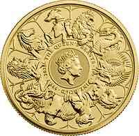 Großbritannien : 100 Pfund Queen's Beast - Completer Coin 1 Oz Bullion 2021 Stgl.