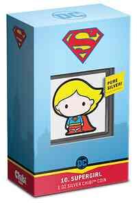 Niue : 2 Dollar Chibi Coin Collection - Supergirl  2021 PP
