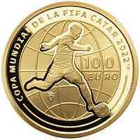 Spanien : 100 Euro FIFA - Fußball WM Quatar 2022 2021 PP