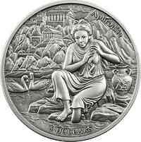 Samoa : 5 Dollar Die zwölf Olympiers im Tierkreis - Aphrodite VS Stier  2021 Stgl.