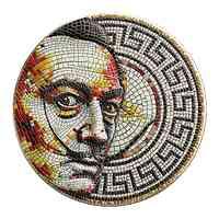Niue : 2 Dollar Mosaic Antikfinish 2021 Stgl.