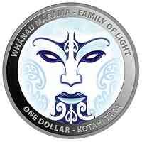 Neuseeland : 2x1 Dollar Whanau Marama-Familie des Lichtes-Set 2x1 oz  2021 PP