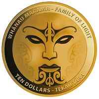 Neuseeland : 2x10 Dollar Whanau Marama-Familie des Lichtes-Set 2x1/2 oz  2021 PP