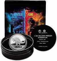Niue : 2 Dollar Gozilla - Godzilla vs King Kong  2021 PP