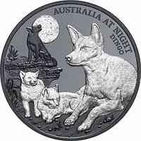 Niue : 1 Dollar Australien bei Nacht - Dingo  2021 PP