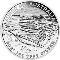 Australien : 1 Dollar Goldmine Super Pit #2 - Bullion  1 oz  2021 Stgl.
