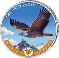 Kongo : 20 Fr Weißkopfseeadler farbig 2021 Stgl.