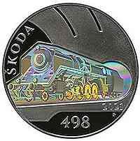 Tschechische Republik : 500 Kronen Skoda 498 Dampflokomotive ´Albatros´ 2021 PP
