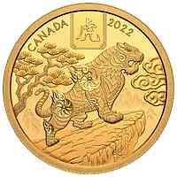 Kanada : 100 Dollar Jahr des Tigers  2022 PP