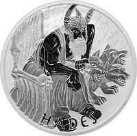 Tuvalu : 5 Dollar Götter des Olymp - Hades 5 oz  2021 Stgl.