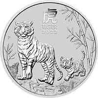 Australien : 2 Dollar Jahr des Tigers 2 oz 2022 Stgl.