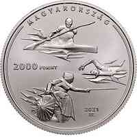Ungarn : 2000 Forint Olympia Tokyo  CuNi  2021 Stgl.