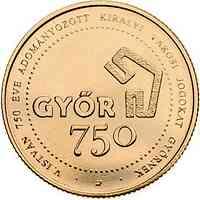 Ungarn : 750 Forint 750 Jahre Stadtrechte Györ  CN Zn  2021 Stgl.