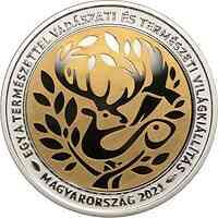 Ungarn : 10000 Forint One With Nature - Welt der Jagd u Natur vergoldet  2021 PP