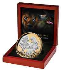 Niue : 10 Dollar Löwe gegen Hyäne  2022 PP