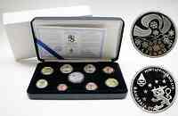 Finnland : 3,88 Euro original Kursmünzensatz der finnischen Münze (mit Silbertoken) in Originaletui mit Zertifikat ! Auflage nur 8000 Stück ! 2003 PP