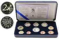 """Finnland : 5,88 Euro original Kursmünzensatz der finnischen Münze (mit Silbertoken und der 2 Euro Gedenkmünze """"EU-Erweiterung) in Originaletui mit Zertifikat ! Auflage nur 5000 Stück ! 2004 PP"""