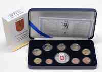 Finnland : 5,88 Euro original Kursmünzensatz der finnischen Münze inkl. 2x2 Euro Gedenkmünzen (WWU und Autonomie)  2009 PP KMS Finnland 2009 PP