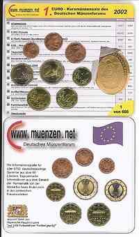Deutschland : 3,88 Euro original KMS des Deutschen Münzenforums verpackt durch das Bayerische Hauptmünzamt - einzeln numeriert  2002 Stgl. KMS Münzenforum 2002