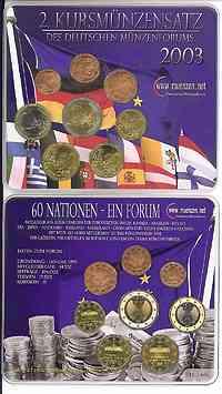 Deutschland : 3,88 Euro original KMS des Deutschen Münzenforums verpackt durch das Bayerische Hauptmünzamt - einzeln numeriert  2003 Stgl. KMS Münzenforum 2003