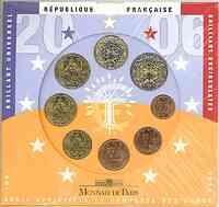 Frankreich : 3,88 Euro original Kursmünzensatz der französischen Münze  2006 Stgl. KMS Frankreich 2006