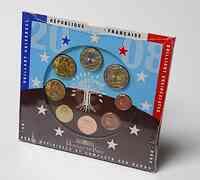 Frankreich : 3,88 Euro original Kursmünzensatz der französischen Münze  2008 Stgl. KMS Frankreich 2008