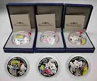 Frankreich : 4,5 Euro Set : 3 x 1,5 Euro : Dornröschen, Alice im Wunderland, Hänsel und Gretel inkl. Zertifikaten und Originaletuis  2003 PP